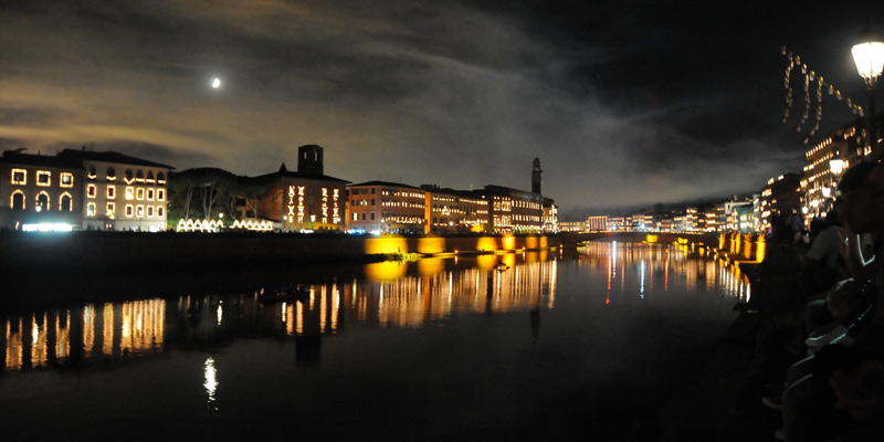In giro per Pisa di notte