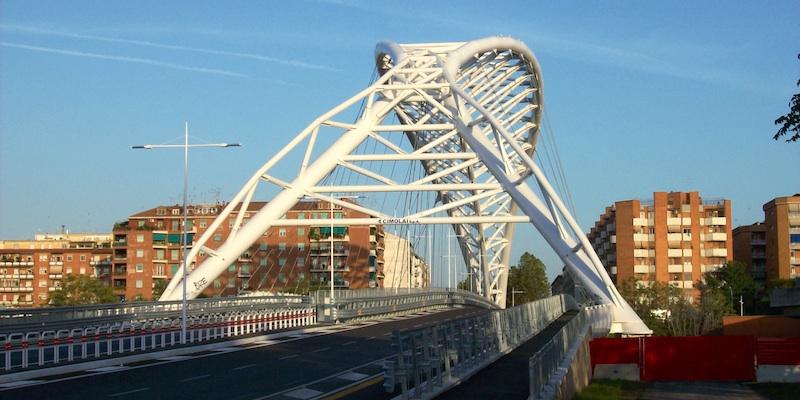 """Ponte """"Settimia Spizzichino"""" (cavalcaferrovia Garbatella - Ostiense)"""