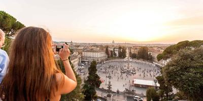 Spanish Steps, Pincio View & Campo de Fiori at Sunset
