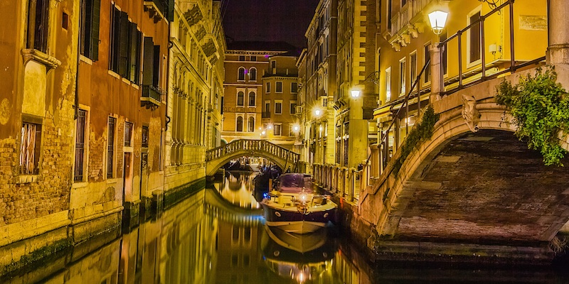 Walking in Venice After Dinner